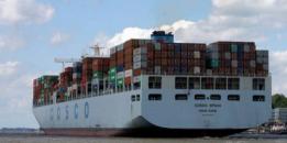 A COSCO cargo ship, via Twitter