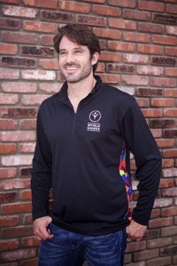 Partially Sublimated 1/4 Zip Shirt from HTT Headwear