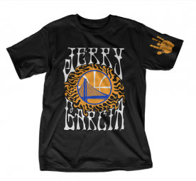Limited edition T-shirt featuring Jerry Garcia and the Golden State Warriors; Image via Teespring