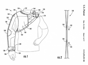 "A depiction of Under Armour's patented ""arm warmer."" (Image via Bloomberg, U.S. Patent and Trademark Office)"