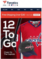 Fanatics sent out an email congratulating the Washington Capitals on a victory that hadn't happened. (Image via The Washington Post)
