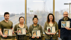Crystal D recognized five employees for their commitment to company values. (Image via Crystal D)