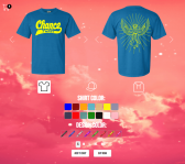 Chance the Rapper is allowing fans to customize apparel. (Image via chanceraps.shirtapp.com)