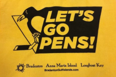 Visit Bradenton sponsored a Pittsburgh Penguins rally towel before the team faced the Tampa Bay Lightning. (Image via Raw Charge)