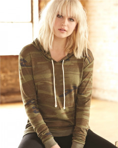 Alternative – Women's Eco-Jersey Classic Hooded Pullover T-shirt from S&S Activewear
