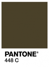 Australian researchers called Pantone 448C the ugliest color in the world. (Image via Twitter)