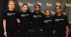 The WNBA fined players and teams for these T-shirts. (Image via Vibe)