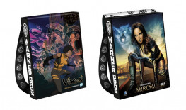 Warner Bros. and Comic-Con gave out augmented reality-enabled tote bags. (Image via IGN)