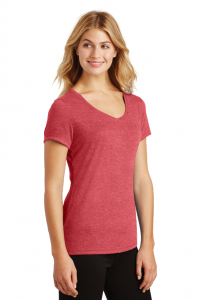 District Made Ladies Perfect Tri V-Neck Tee by SanMar