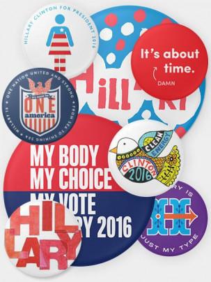 Hillary Clinton campaign pins
