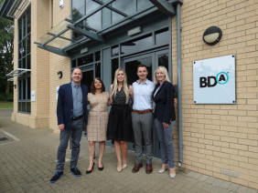 BDA U.K team, pictured above (left to right) Steven Bass (Client Services Director), Purnima Patel (Head of Buying), Sarah Messenger (Account Director), Andrew Duffy (Account Director) and Deborah Rees (Managing Director).