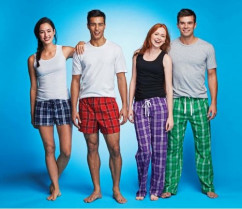 District Young Men's Flannel Plaid Pant by SanMar I'm not quite sure when it happened, but pajama pants have become the new norm for college students. Seriously, they're wearing them in the cafeteria, around the dorm halls and even in the library.