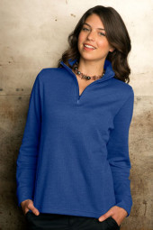 Women's 1/4-Zip Flat Back Rib Pullover by Vantage Apparel