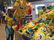 The top-selling item for this year's Olympics was the plush Vinicius mascot. (Image via Sports Business Daily)