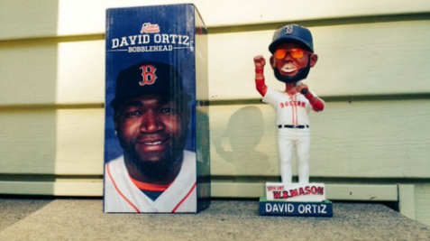 The Boston Red Sox decided this bobblehead of David Ortiz was inaccurate and racially insensitive. (Image via Twitter)