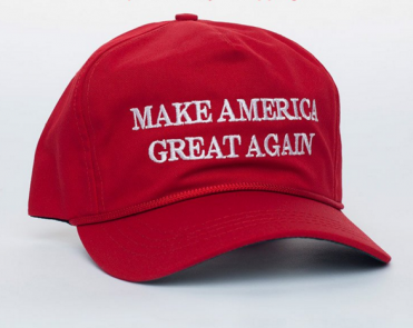 Donald Trump has come under fire for outsourcing his merchandise manufacturing. (Image via Trump's online store)