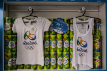 Rio Olympics organizers created low-cost, lower-quality apparel that's more affordable and prevents counterfeit efforts. (Image via Bloomberg)