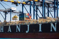 Hanjin Shipping announced that it will close its European operations. (Image via Twitter)