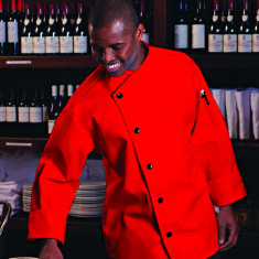 Eco-friendly Smooth Front Chef Coat from Aprons Etc.