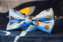 "The Memphis Grizzlies have been planning creative stadium giveaways, like these ""Z-Bow-Ties"" from last season. (Image via Twitter)"