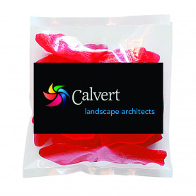 Business Card Magnet with Bag of Swedish Fish from The Magnet Group