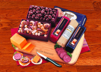 Party Starter with Bamboo Cutting Board from Maple Ridge Farms