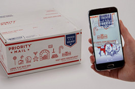 USPS introduced a holiday-themed augmented reality app. (Image via USPS)