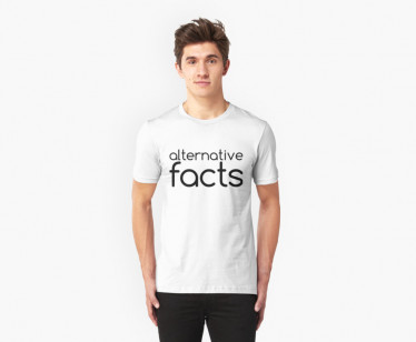 "RedBubble has a host of ""Alternative Fact"" merchandise, like this T-shirt. (Image via RedBubble)"