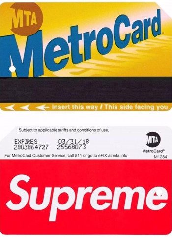 The MTA collaborated with Supreme for MetroCards, and fans of the brand showed their loyalty. (Image via New York Daily News)