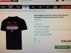 The New England Patriots used David Thomas' 'Wicked Awesome' trademark for Super Bowl merchandise.
