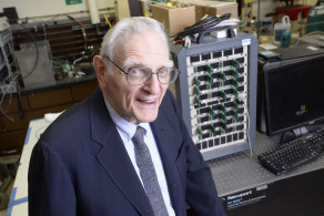 John Goodenough, inventor of the lithium-ion battery, has developed a safer, more cost-efficient alternative. (Image via University of Texas at Austin)