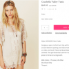 Free People was selling an item called the 'Coachella
