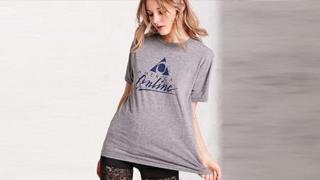 Urban Outfitters is selling this AOL T-shirt for $45. (Image via Time)