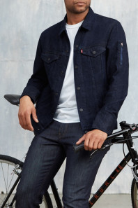 "The Levi's Commuter Trucker Jacket includes Google ""Jacquard"" technology. (Image via Business of Fashion)"