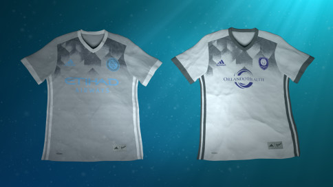 New York City FC and Orlando City will wear these uniforms on Sunday. (Image via MLS)
