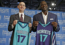 The Charlotte Hornets will wear uniforms with the Jordan logo, not the Nike swoosh. (Image via Twitter)