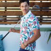The spring line for the Bill Murray's golf apparel line features tropical flower-patterned polo shirts. (Image via SGB Media)