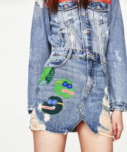 Zara offended consumers with its accidental Pepe the Frog denim skirt. (Image via Zara)