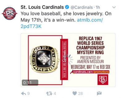 The Cardinals didn't think this tweet through. (Image via Sports illustrated)