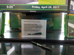 TD Bank is recalling a line of its complementary pens. (Image via Brendan Putnam/Quality Concepts Inc.)