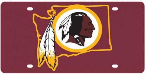 Washington Redskins NFL Shop License Plate