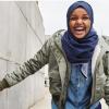 American Eagle denim hijab