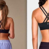 Lululemon (left) believes Under Amour (right) copied its sports bra strap design. (Image via the Baltimore Sun)