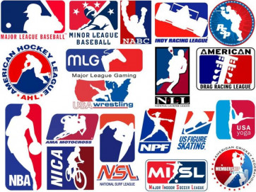 These sports leagues' logos have an undeniable connection to Major League Baseball's emblem. (Image via commenter OUTFOXEM, Deadspin)