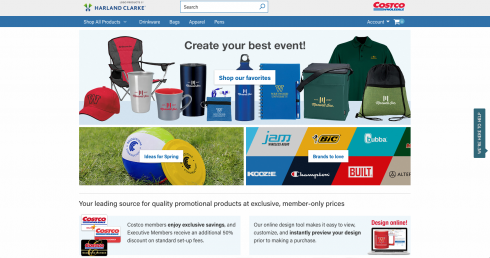 Costco promotional products harland clarke