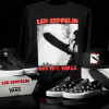 Vans Led Zeppelin branded apparel shoes