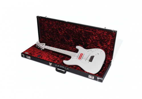 Christie's Supreme merch branded guitar