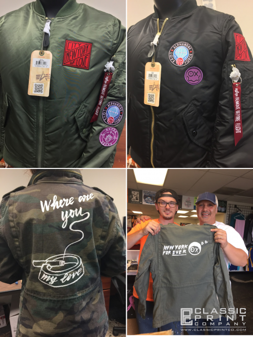 jacket decorating