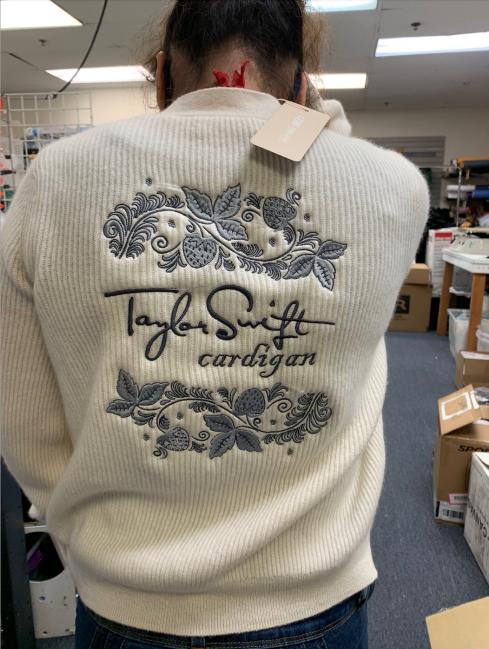 cardigan embroidery spec sample