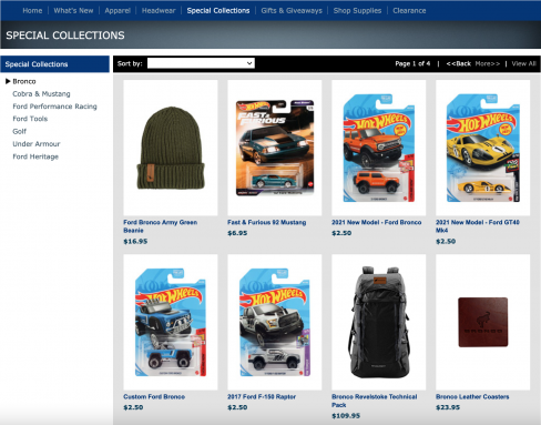 bronco merchandise